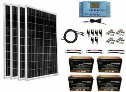 WindyNation 400 Watt Solar Kit 4pcs 100W Solar Panels + P30L