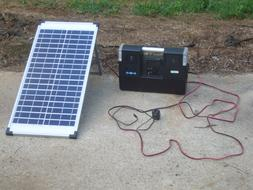 400 Watt Solar Power Backup Unit 120ac 12dc and USB 40 Watt