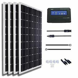 KOMAES 400 Watts 12Volts Monocrystalline Solar Panel Kit Inc