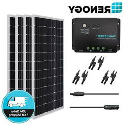 Renogy 400W 12V Mono Solar Panel Bundle Kit Off Grid Chargin