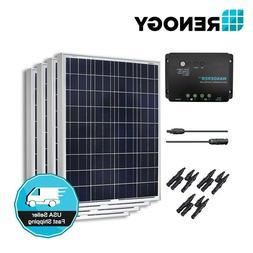 Renogy 400W 12V Solar Panel 30A Controller Bundle Kit Off Gr