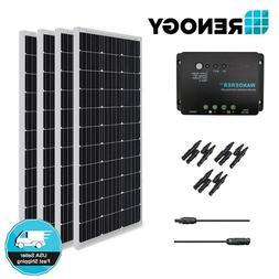 Renogy 400W 12V Solar Panel Bundle Kit Off Grid Battery Char