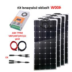 400W 12V Solar Panel Kit mono Flexibel 12/24V Solar Controll