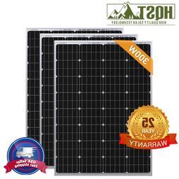 HQST 300W Watt Mono Solar Panel 3PCS 100 Watt 12V Monocrysta