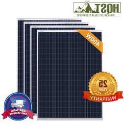 HQST 400W 300W 200W 100W Watt Solar Panel 12V 24V PV Power R
