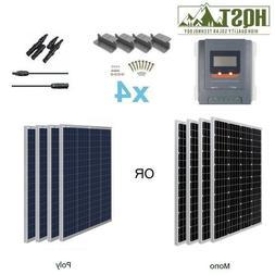 HQST 400W Watt 12V Mono Solar Panel Starter Kit W/ 30A MPPT