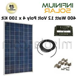 400W WATT SOLAR KIT: 4X 100W PV Solar Panel 12V / 24V Charge