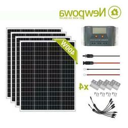 Newpowa 400W Watts 12V Monocrystalline Solar Panel Charging