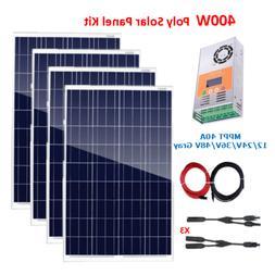 400Watt 12V Solar Panel Kit 4x100W +MPPT 40A Charge Controll