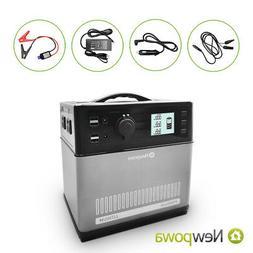 Newpowa 400Wh AC 120V 300/600W Solar Generator Power Bank En