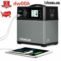 Suaoki 400Wh Portable Solar Power Generator Inverter Supply