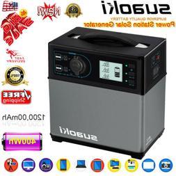 Suaoki 400Wh Solar Electric Power Generator Supply 4-USB Inv