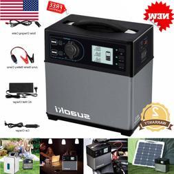 400wh Solar Portable Power Generator Supply Cigarette Lighte