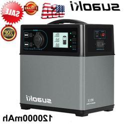Suaoki 400Wh Solar Power Generator Supply 4-USB AC&DC Invert