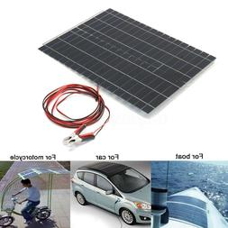40W 12V Poly Solar Panel 2X 20W Off Grid Battery Charger For
