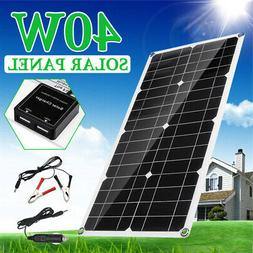 40W 18V Dual USB Solar Panel Battery Solar Cell Module Car B