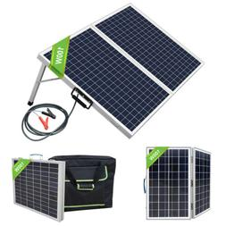 40W 50W 100W 12V Foldable Solar Panel Kit With Bag For Campi