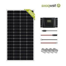 Newpowa 35W Watt 12V Solar Panel+PWM 10A Charge Controller+3