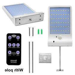 48 LED Solar Motion Sensor Lights Outdoor with Remote Contro