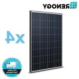 4Pcs Renogy 100 Watt 12V Volt 400W Watt Mono Solar Panel  PV
