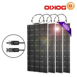 4PCS-100W 12/18V Mono Solar Panel Flexible Lightweight Benda