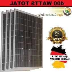 100W Watts 100 Watt Solar Panels Mono German 12 Volt 12V RV