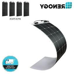 4pcs Renogy 248° Flexible 160W Mono Solar Panel 600W 600 Wa