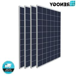 Renogy 4 Pcs of 270W Watts 24V Poly Solar Panel PV Off/On Gr