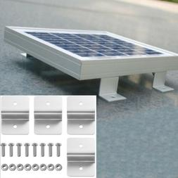 4pcs solar panel holder silver metal z