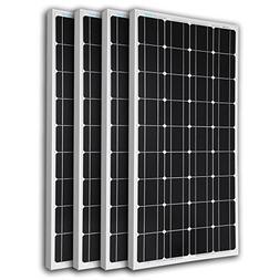 Renogy 4RNG-100D 4 Piece 100W Monocrystalline Photovoltaic P