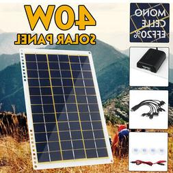 5/18V 40W Solar Panel 10 in 1 Charging Line USB For Boat Car
