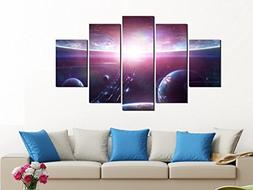 PulsatingFingertip-5 Panel Purple Colourful solar system pla