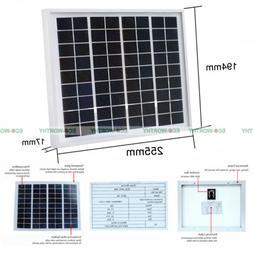 5W 12V Waterproof Solar Panel 5Watt PV Solar Power Outdoor H