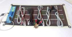 ICP PowerFlex 5 watt flexible Solar Panel. With 5 pcs Plug'n
