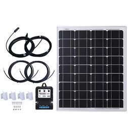KOMAES 50 Watt 12 Volt Monocrystalline Solar Panel, Extremel