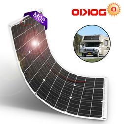 50 Watt 12V 18V Monocrystalline Lightweight Solar Panel DOKI
