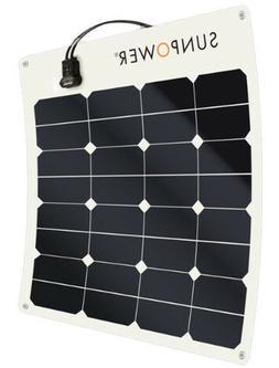 SunPower® 50 Watt Flexible Solar Panel. High Efficiency for