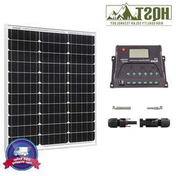 HQST 50 Watt Mono Solar Panel Kit w/ Controller 50W 12V Batt