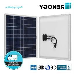Renogy 50 Watt Solar Panel 50W 12V Off Grid PV Power Marine
