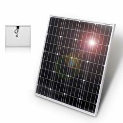 DOKIO 50 Watts 12 Volts Monocrystalline Solar Panel Portable