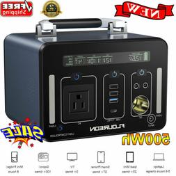 500Wh Portable Power Generator AC DC USB Battery Charger Sta