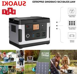 Suaoki 500WH Portable Solar Generator Power Supply Inverter