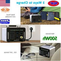 500Wh Power Station Solar Generator Supply Emergency Inverte