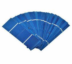 50Pcs Solar Panel Solar Cell 78x26mm 0.5V 0.35W Color Crysta