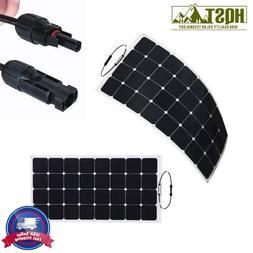 50W 100W 12V Flexible Mono Solar Panel HQST Lightweight PV P