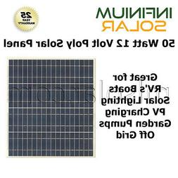 50w 50 Watts 12V Battery Charger Solar Panel PV Boat RV Gate