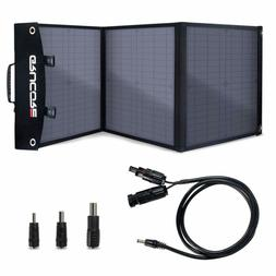 GRUCORE 50W Foldable Solar Panel Charger for Suaoki/Jackery