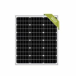 Newpowa 50W Mono Solar Panel 50 Watts Monocrystalline Module