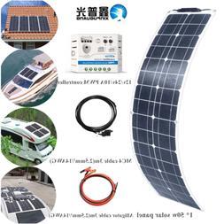 50w Semi flexible Solar Panel 50w 16V Solar Cells Car Boat R
