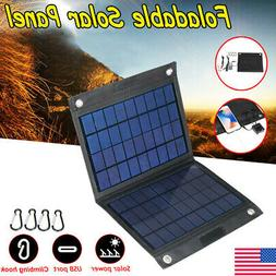 40W USB Solar Panel Folding Power Bank Outdoor Camping Hikin